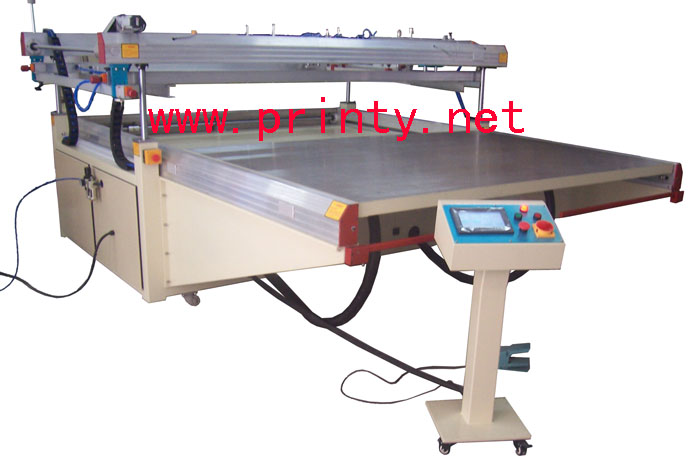 Automatic Large Flat Vacuum Shuttle Screen Printer,Big Plane Sliding table Screen Printing machine,Semi Automatic Wide Format Shuttle Screen Printing Equipment