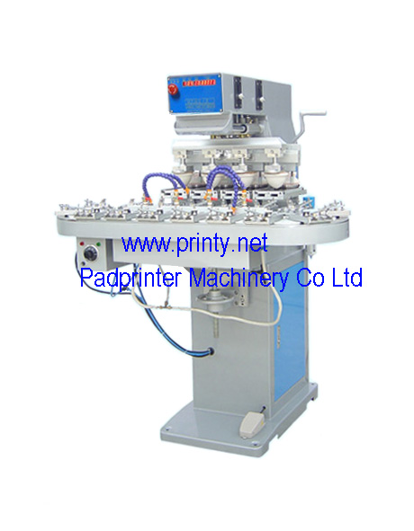 Semi auto 4 color conveyor pad printer,automatic 1~8 color pad printing machine equipments,pad printers printing machines producer wholesale best pad printers