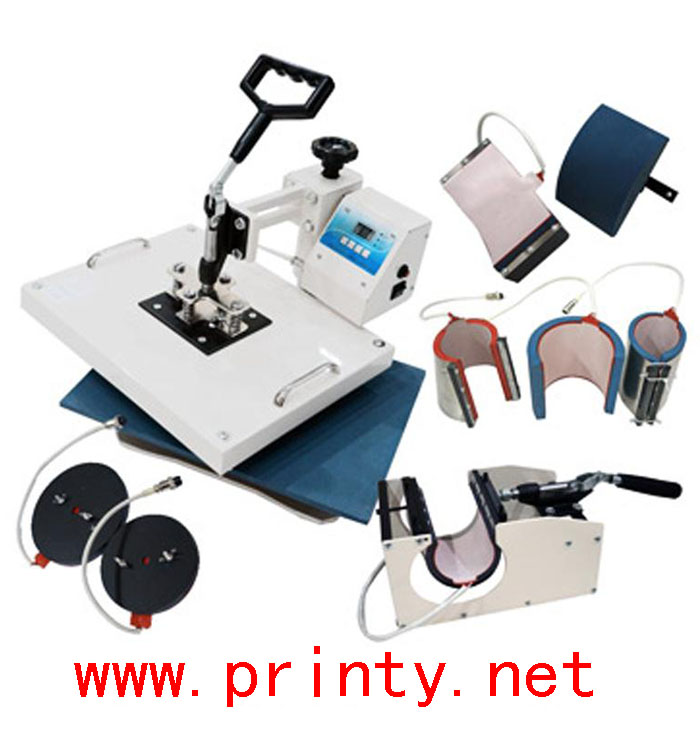 Combo heat press machine,Combo heat transfer machine,Combo 8 in 1 heat transfer press machine,T-shirt mug hat dish multi purpose heat press machine equipment