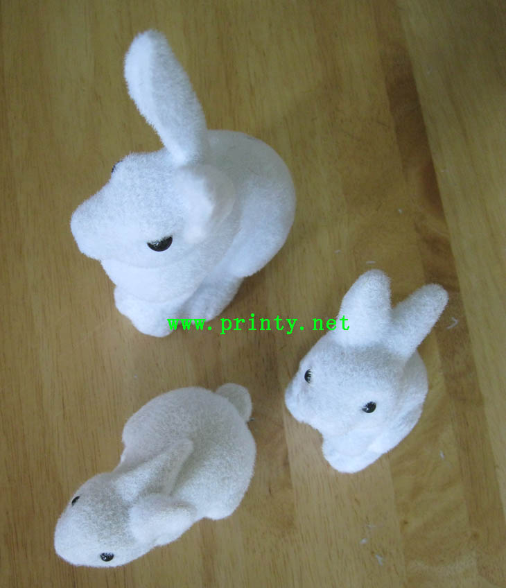 Flocking samples of rabits