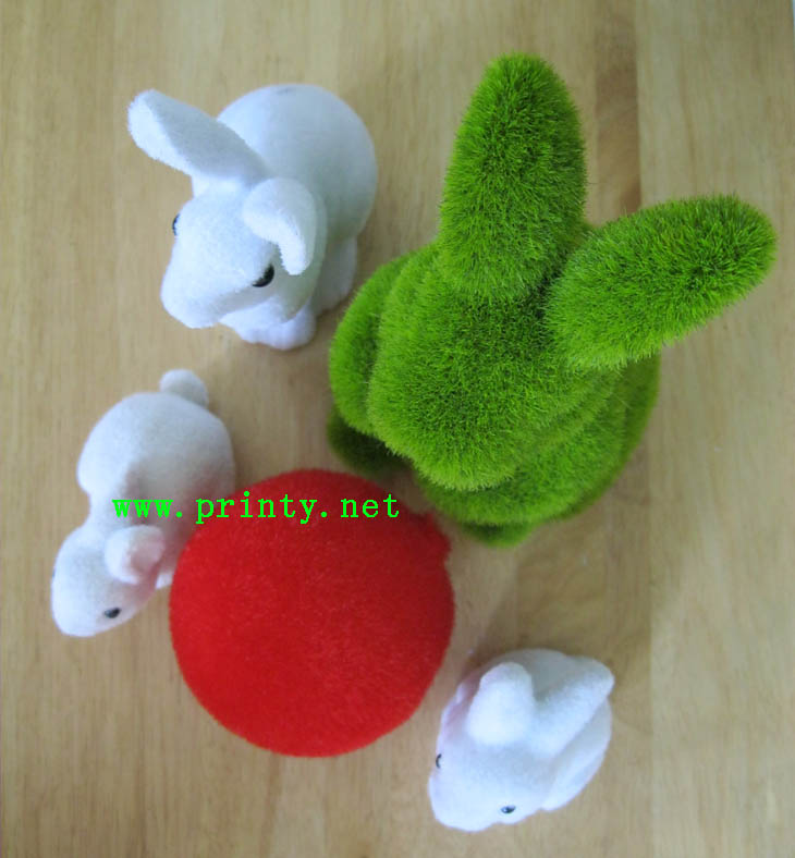 Rabits and lantern flocking samples