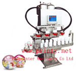 1~4 color air ball pad printer machine | Automatic PVC ball pad printing machine | Conveyor football basket ball pad printing equipment | Air ball pad printer manufacturer