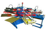 Fully Auto 6 color T shirt screen printing machine