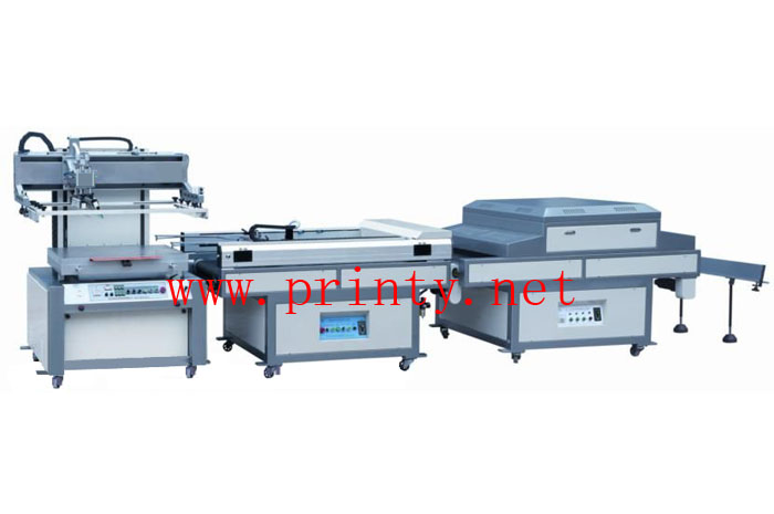Automatic Screen Printing Production Line | Auto Screen Printing Unloading UV Curing Machine| Flat Screen Printer With Auto Take-off Unit & UV Dryer