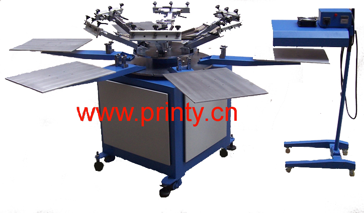 T-shirt screen printer,T-shirt screen printing machine,T-shirt screen print equipment,T-shirt 4 color 6 color 8 color screen printing machines equipments